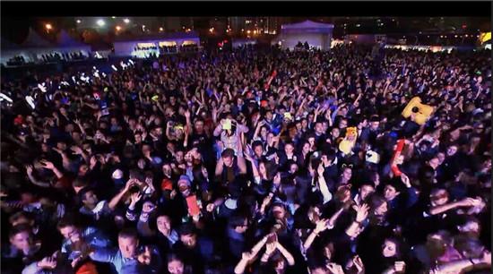 上海百威音乐节现场-百威风暴电音节上海站