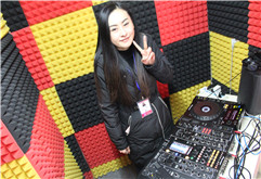 湖南怀化DJ学员文雯练习照片