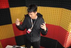 皇族DJ大连学员孙伟彬打碟练习照片